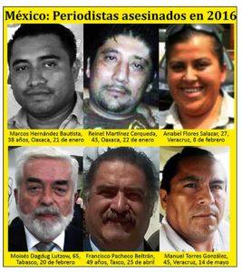 PERIODISTAS ASESINADOS MEXICO2-CIAP-FELAP